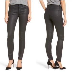 Madewell Waxed Skinny Skinny Jeans in Black
